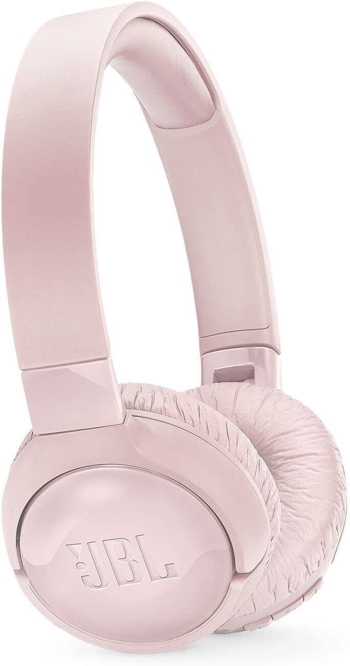 JBL TUNE 600BTNC - Noise Cancelling On-Ear Wireless Bluetooth Headphone - Pink