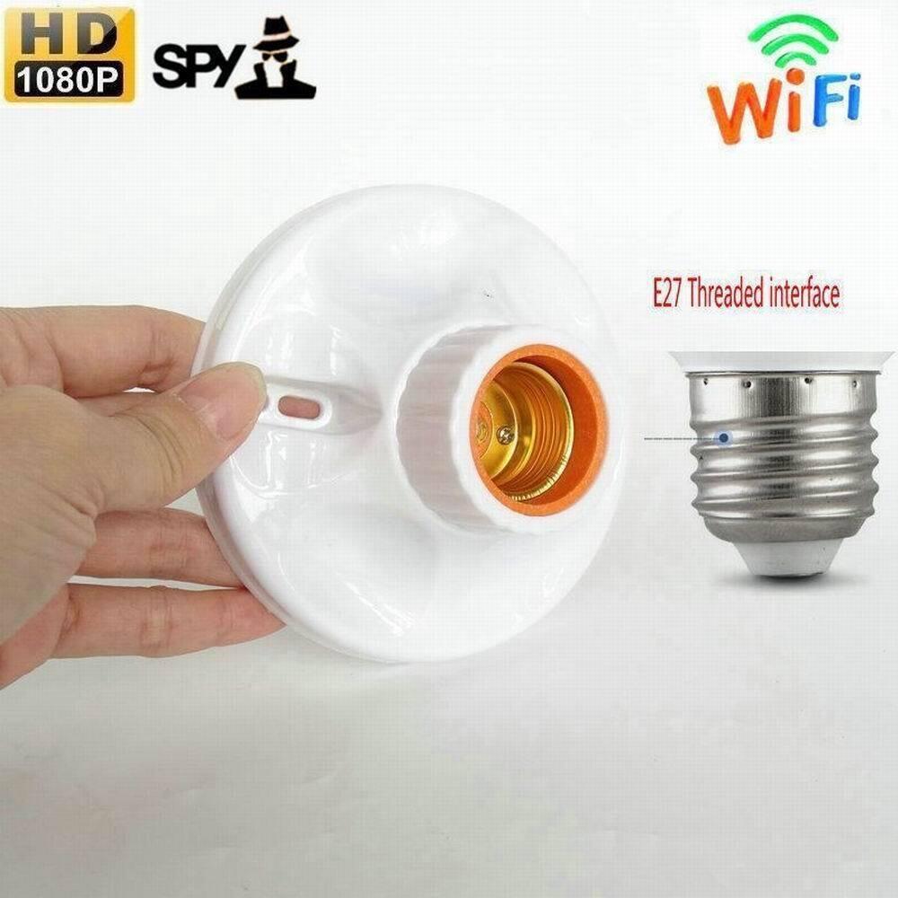 Wireless Camera 1080P Wifi IP CAM hidden Lamp Holder Indoor Security