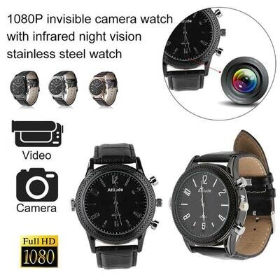 1080P HD Portable professional Watch Hidden Camera With Voice Recorder