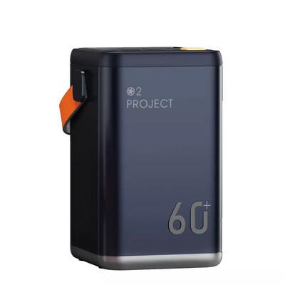 O2 Project Power Bank 60000 mAh Backup Battery - Blue
