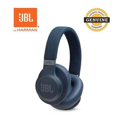 JBL LIVE 650BT Wireless On-Ear Headphones with Voice Assistant-Blue