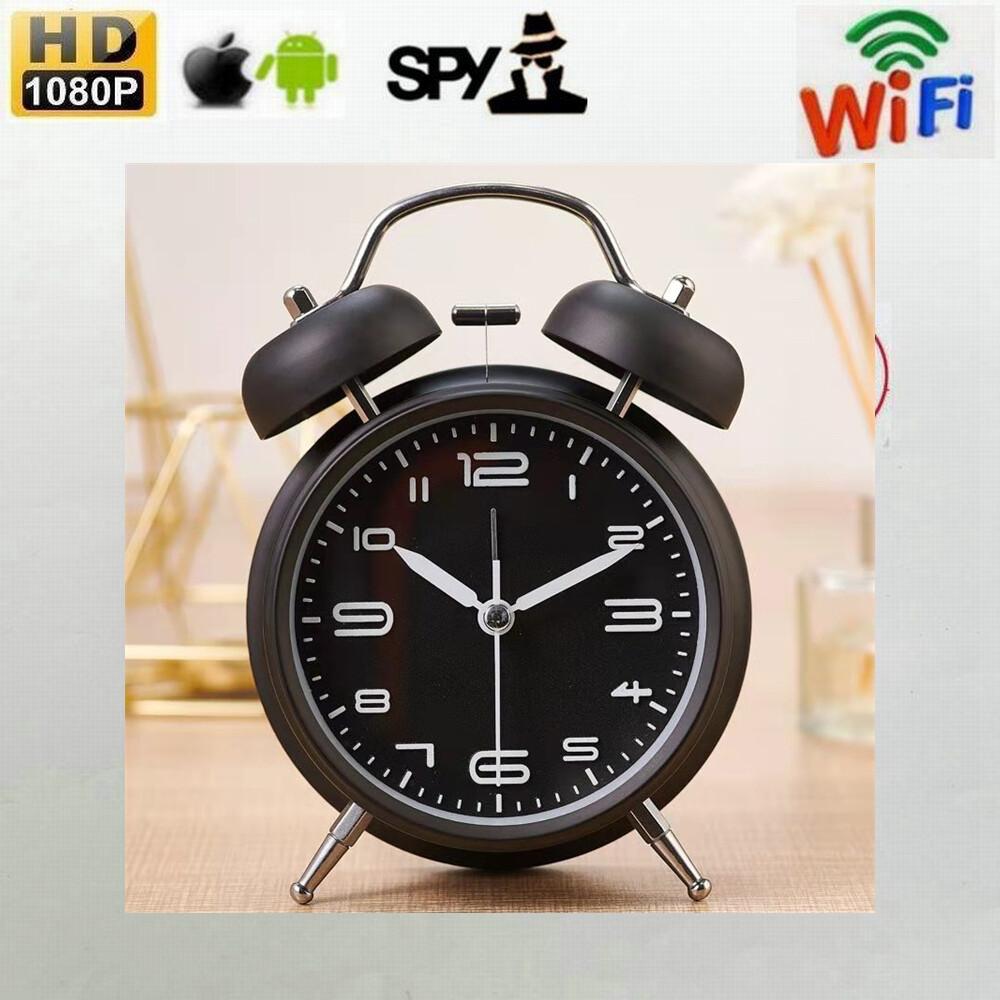 Mini Alarm Clock with 4K/1080P Covert Wi-Fi Camera - Black