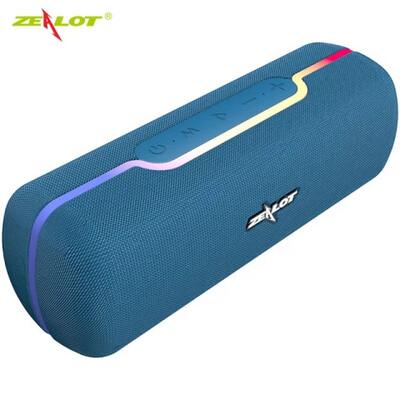 Zealot S55 Wireless Speaker Bass Sound Box - Blue