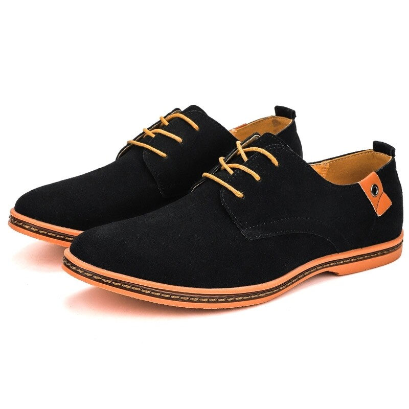 Business Casual Suede Leather Oxford Shoes