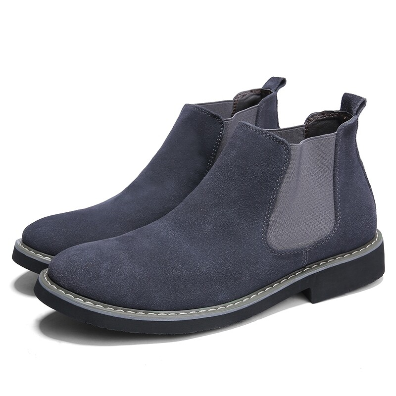 Fashion Style Middle top Suede Leather Shoes - Gray