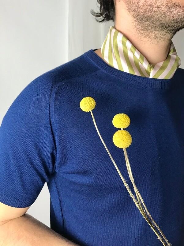 Strick-T-Shirt ultramarin