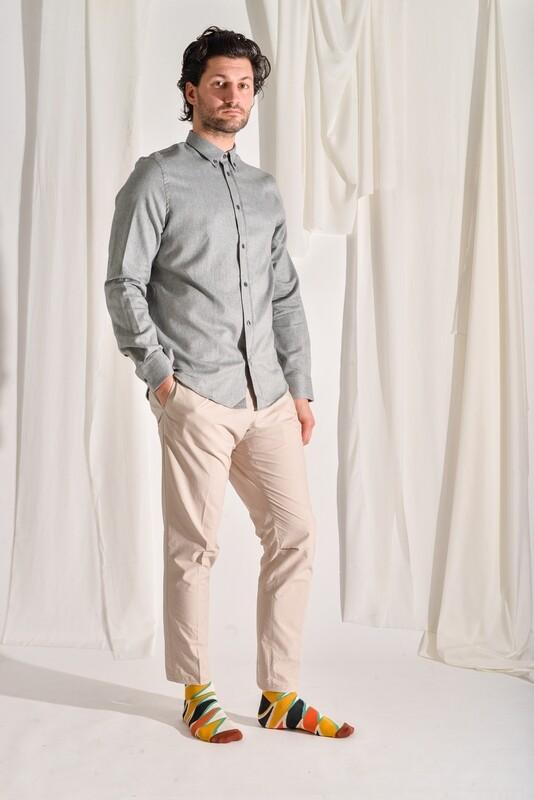 Flanellhemd grau