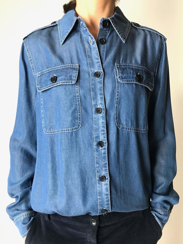 Jeansbluse blau