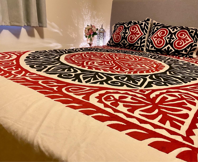 PHOOL Appliqué Bedding Set