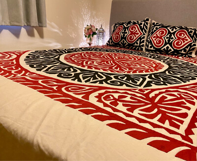 PHOOL Appliqué Bedding Set