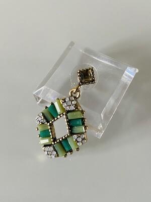 ZEEN Drop Earrings - Green