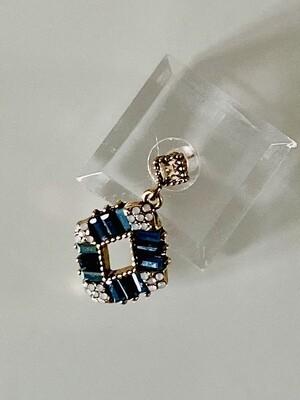 ZEEN Drop Earrings - Blue