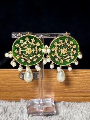MEENA Earrings Green