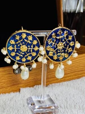 MEENA Earrings - Blue