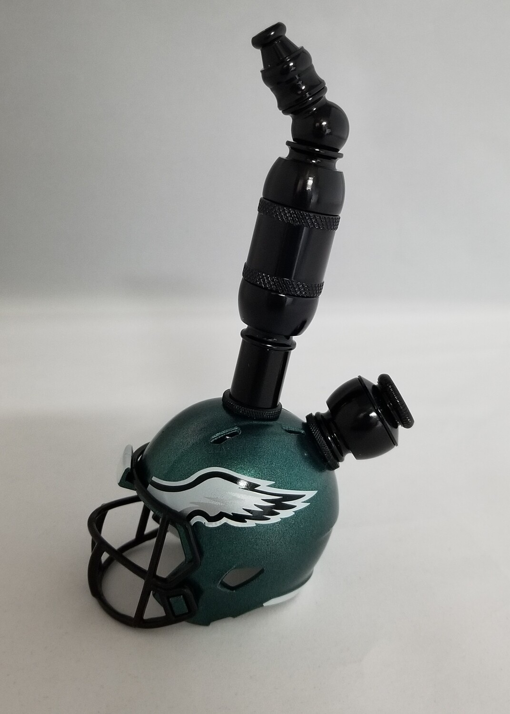 "PHILADELPHIA EAGLES ""BAD ASS"" NFL FOOTBALL HELMET SMOKING PIPE Upright/Black Anodized"