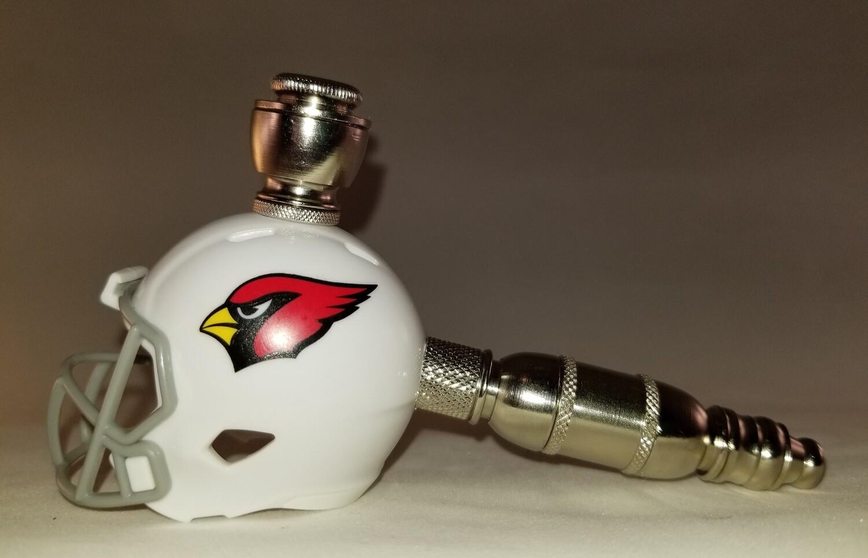 ARIZONA CARDINALS NFL FOOTBALL HELMET SMOKING PIPE Straight/Nickel
