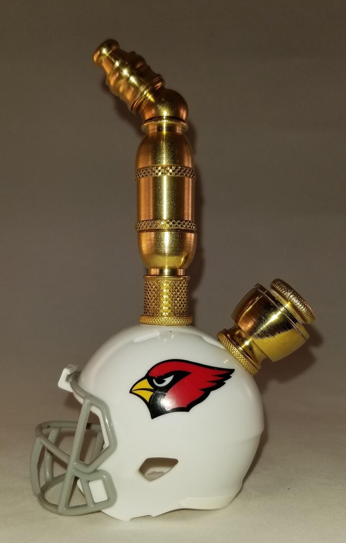 ARIZONA CARDINALS NFL FOOTBALL HELMET SMOKING PIPE Upright/Brass