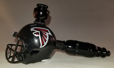 "ATLANTA FALCONS NFL ""BAD ASS""  FOOTBALL HELMET SMOKING PIPE Straight/Black Anodized"