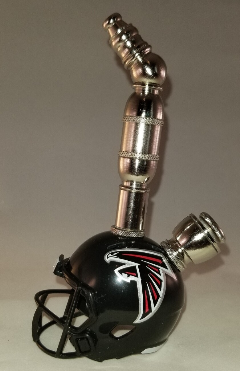 ATLANTA FALCONS NFL FOOTBALL HELMET SMOKING PIPE Upright/Nickel
