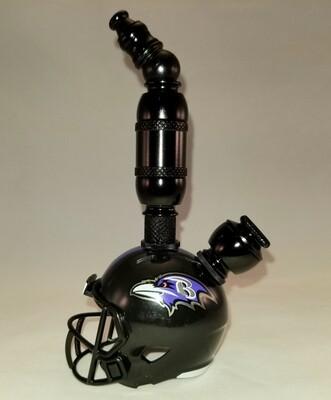 "BALTIMORE RAVENS  ""BAD ASS"" NFL FOOTBALL HELMET SMOKING PIPE Upright"