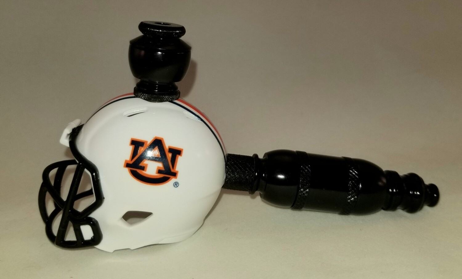 "AUBURN TIGERS ""BAD ASS"" FOOTBALL HELMET SMOKING PIPE Straight/Black Anodized"