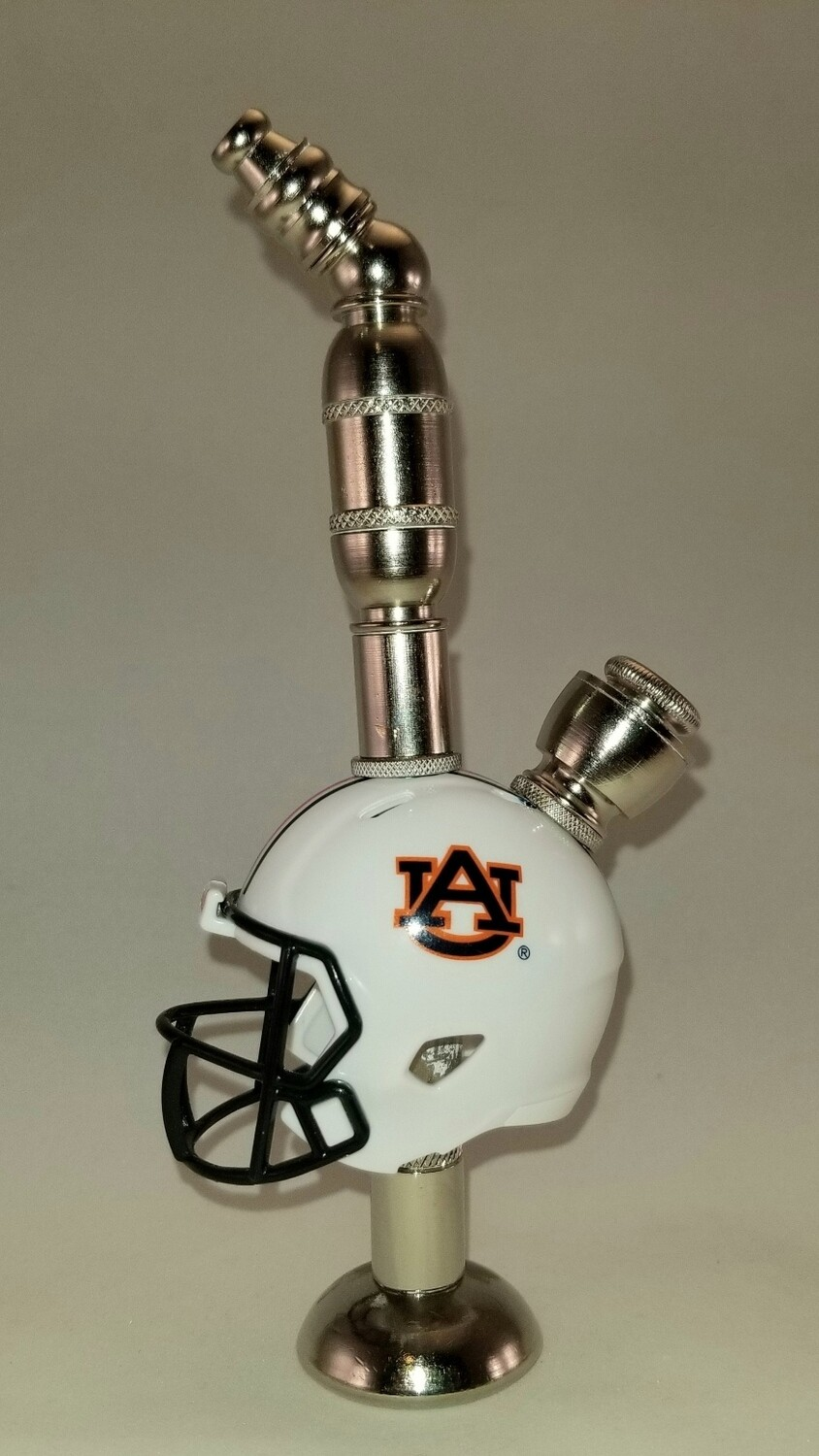 AUBURN TIGERS FOOTBALL HELMET SMOKING PIPE Stand Alone/Nickel