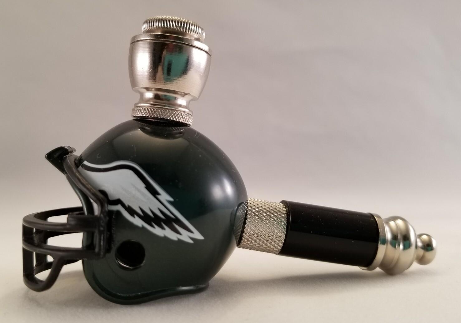 PHILADELPHIA EAGLES FOOTBALL HELMET SMOKING PIPE Mini/Nickel