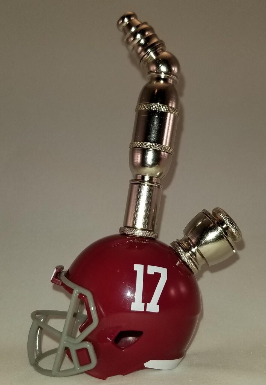 #17 ALABAMA CRIMSON TIDE FOOTBALL HELMET SMOKING PIPE Upright/Nickel