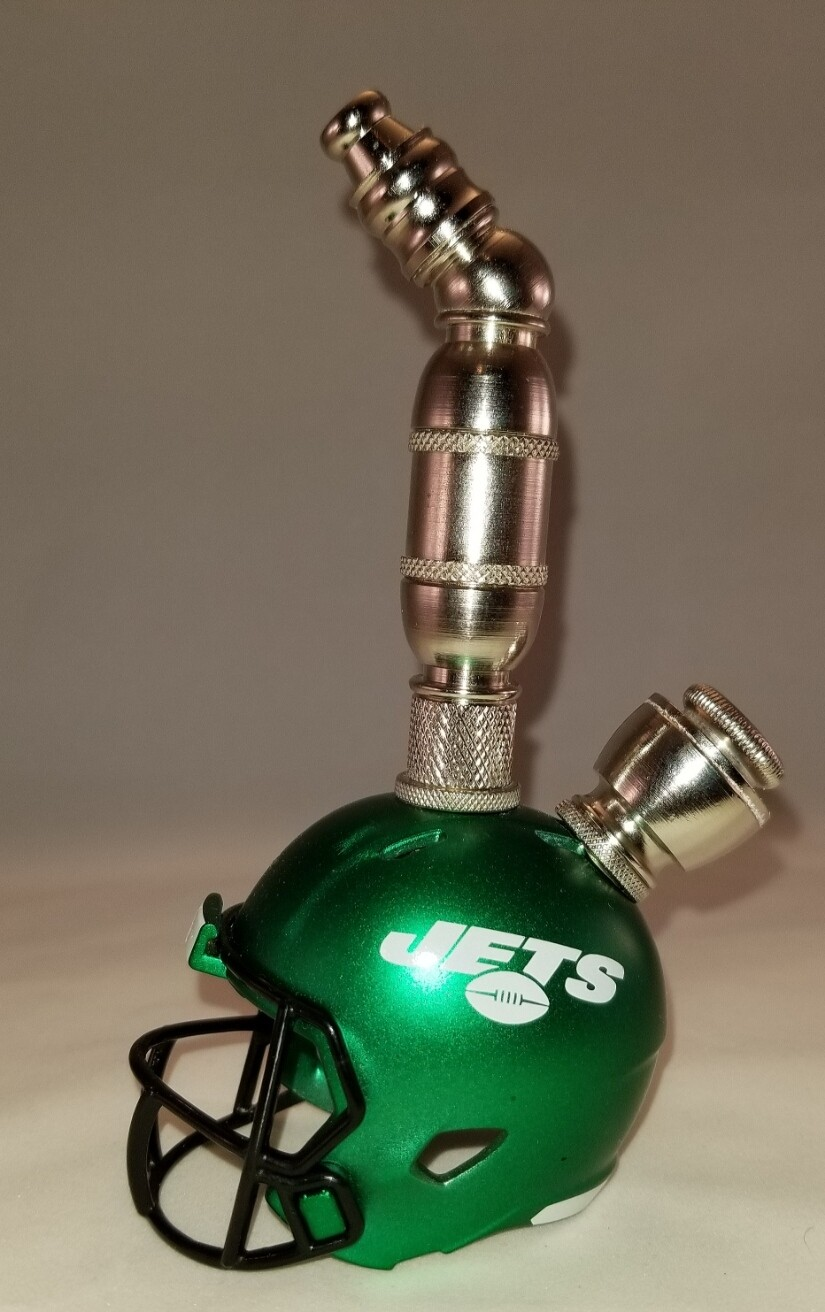 NEW YORK JETS NFL FOOTBALL HELMET SMOKING PIPE Upright/Nickel