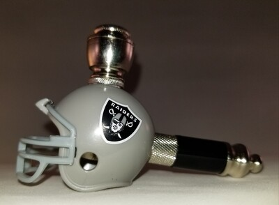 LAS VEGAS RAIDERS NFL FOOTBALL HELMET SMOKING PIPE Mini/Nickel