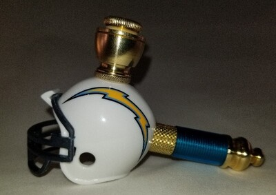 LOS ANGELES CHARGERS FOOTBALL HELMET SMOKING PIPE Mini/Nickel