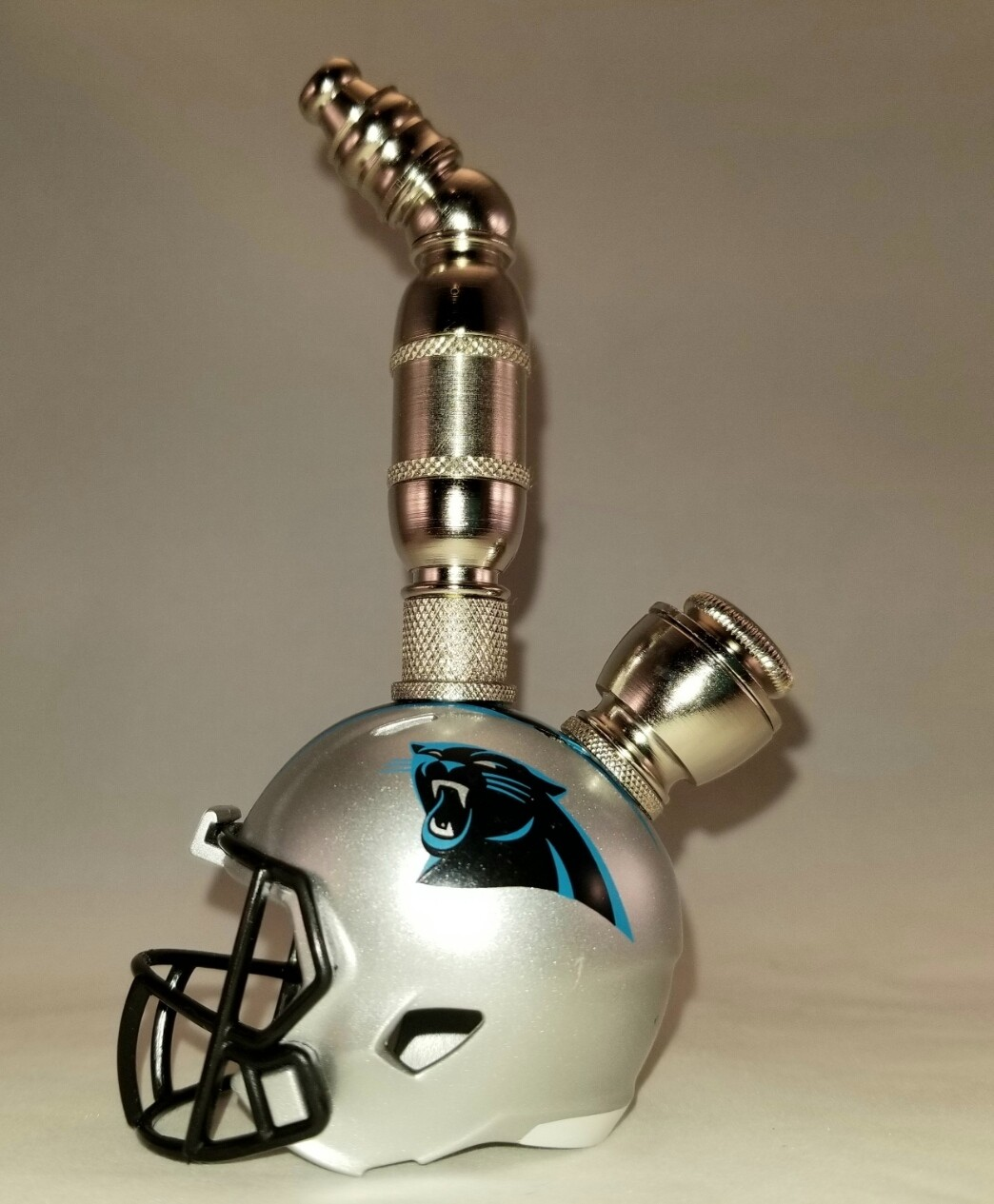 CAROLINA PANTHERS NFL FOOTBALL HELMET SMOKING PIPE Nickel/Upright