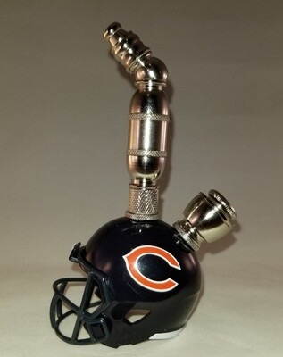 CHICAGO BEARS NFL FOOTBALL HELMET SMOKING PIPE Upright/Nickel