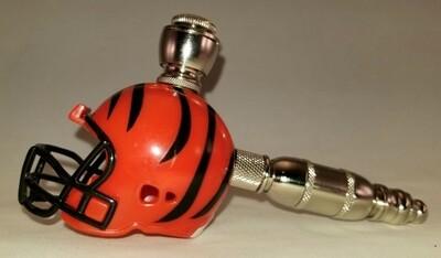 CINCINNATI BENGALS NFL FOOTBALL HELMET SMOKING PIPE Straight/Nickel