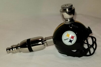 PITTSBURGH STEELERS NFL FOOTBALL HELMET SMOKING PIPE Straight/Nickel