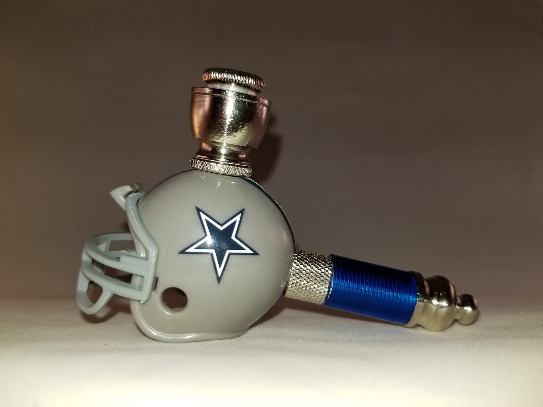 DALLAS COWBOYS NFL FOOTBALL HELMET SMOKING PIPE Mini/Nickel/Blue
