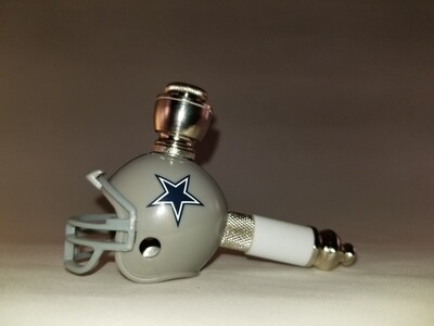 DALLAS COWBOYS NFL FOOTBALL HELMET SMOKING PIPE Mini/Nickel/White