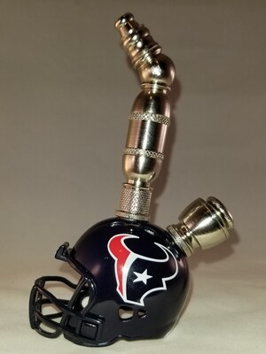 HOUSTON TEXANS NFL FOOTBALL HELMET SMOKING PIPE Upright/Nickel