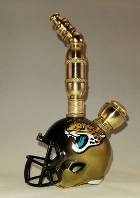JACKSONVILLE JAGUARS NFL FOOTBALL HELMET SMOKING PIPE Upright/Brass