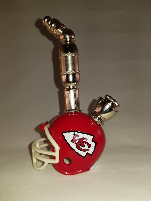 KANSAS CITY CHIEFS NFL FOOTBALL HELMET UPRIGHT SMOKING PIPE Upright/Nickel
