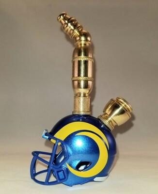 NEW LOS ANGELES RAMS NFL  FOOTBALL HELMET SMOKING PIPE Upright/Brass/New