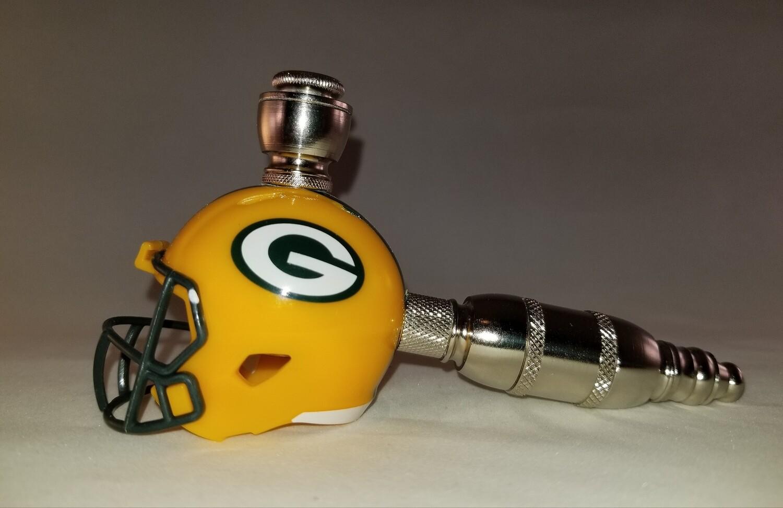 GREEN BAY PACKERS NFL FOOTBALL HELMET SMOKING PIPE Straight/Nickel