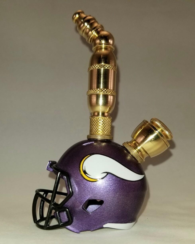 MINNESOTA VIKINGS NFL FOOTBALL HELMET SMOKING PIPE Upright/Brass