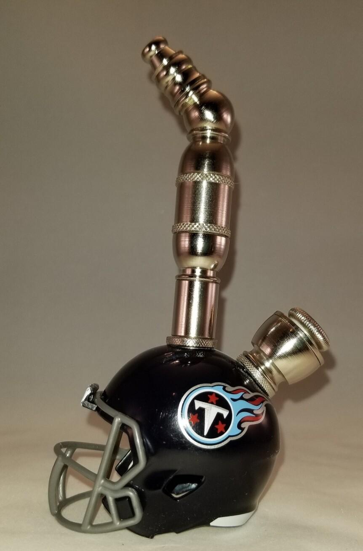TENNESSEE TITANS NFL FOOTBALL HELMET SMOKING PIPE Upright/Nickel/Navy
