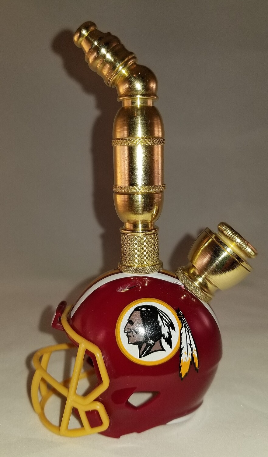 WASHINGTON REDSKINS NFL FOOTBALL HELMET SMOKING PIPE Upright/Brass