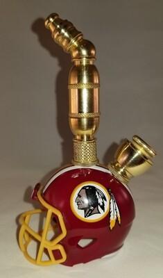 WASHINGTON REDSKINS NFL FOOTBALL HELMET SMOKING PIPE Upright/Brass
