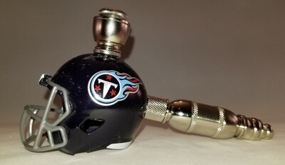 TENNESSEE TITANS NFL FOOTBALL HELMET SMOKING PIPE Straight/Nickel/Navy