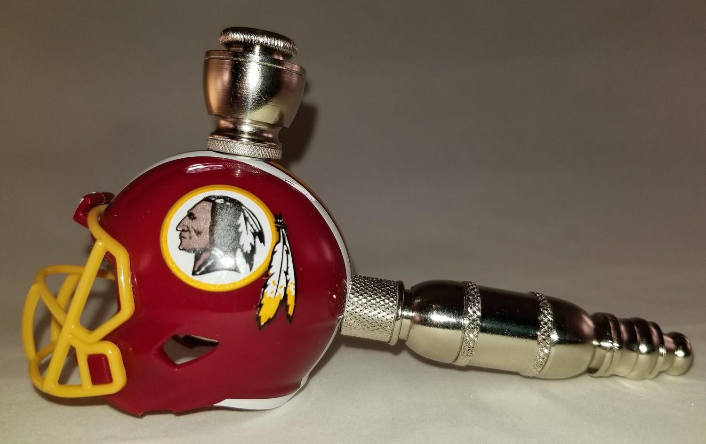 WASHINGTON REDSKINS NFL FOOTBALL HELMET SMOKING PIPE Straight/Nickel
