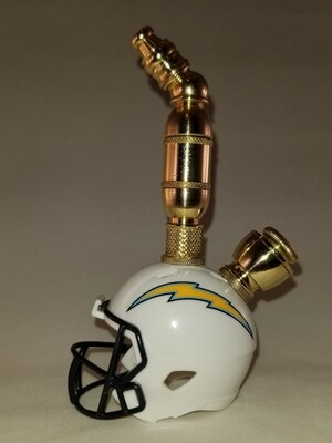 LOS ANGELES CHARGERS FOOTBALL HELMET SMOKING PIPE Upright/Brass