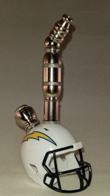 LOS ANGELES CHARGERS FOOTBALL HELMET SMOKING PIPE Upright/Nickel